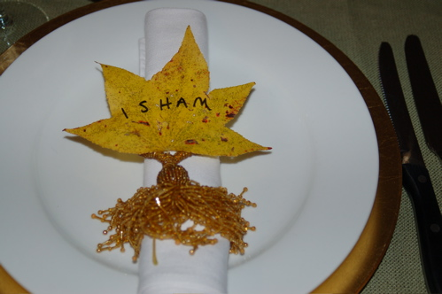 Need Place Cards? Grab Some Leaves and a Sharpie!
