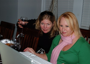 Lisa and I Checking Out the Action Online