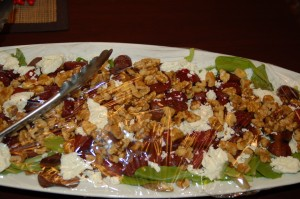 Eric's Fab Beet, Goat Cheese and Toasted Walnut Salad