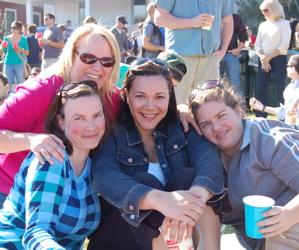 Val, Me, Leila, Miss Crystal