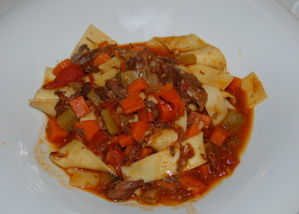 Hearty Lamb Pappardelle