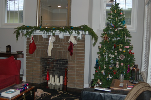 Mantel - Decorated With Fresh Greenery