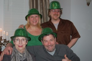 Miss Sylvia, Clint, Eric and Me. St. Patty's Day 2010