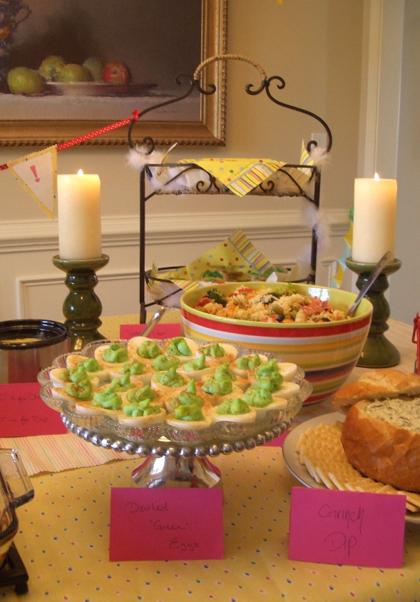 dr seuss food ideas for a baby shower anatomy of a dinner party