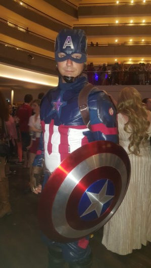Captain America was there, too!