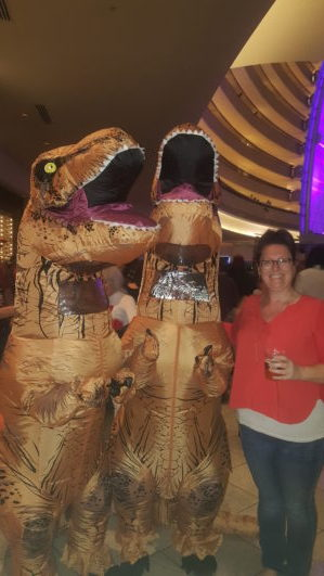 Bestie Melanie met two old friends. Like Jurassic Old.